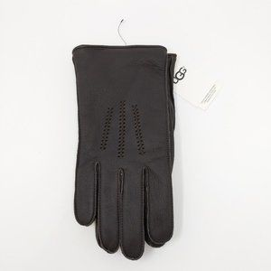 UGG Brown Wrangell Leather Glove Touchscreen